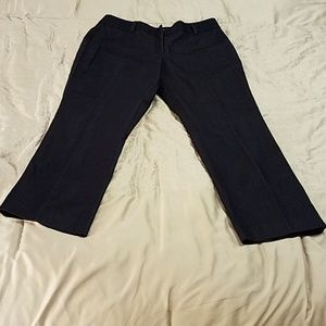 Ann Taylor Navy Blue Trousers Size 8